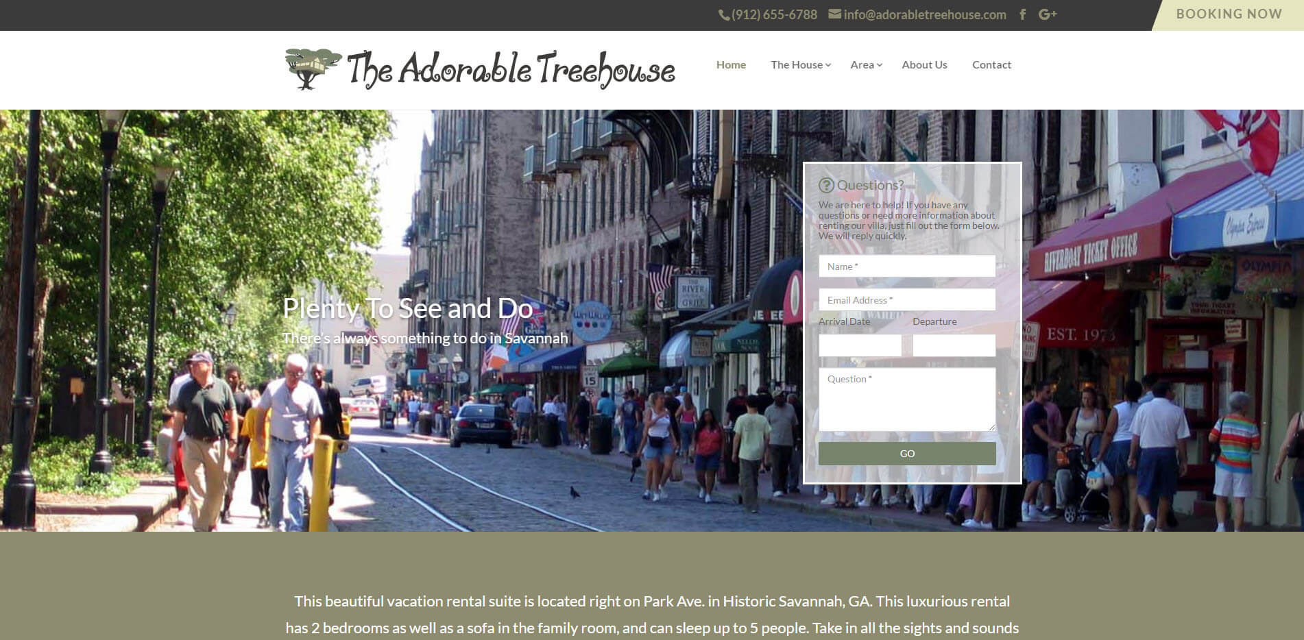 A screenshot of the website Adorable Treehouse